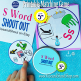 """Letter S Sound Matching Game SHOUT OUT; 31 -3"""" & 5"""""""