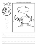 Letter S Trace and Write Worksheet Pack
