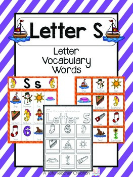 Letter s vocabulary cards by the tutu teacher teachers pay teachers letter s vocabulary cards altavistaventures Images