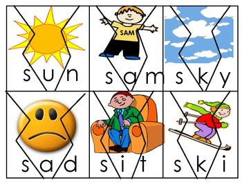 Letter S Word Puzzles