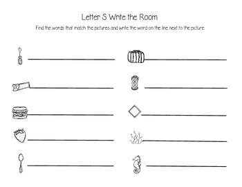 Letter S Write the Room