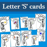 FREE Letter S cards- 10 A4 cards with words and pictures