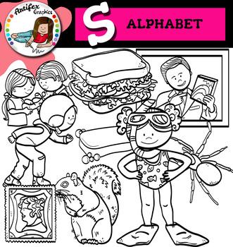 Letter S clip art set