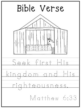 Letter S is for stable. Bible Letter of the Week.
