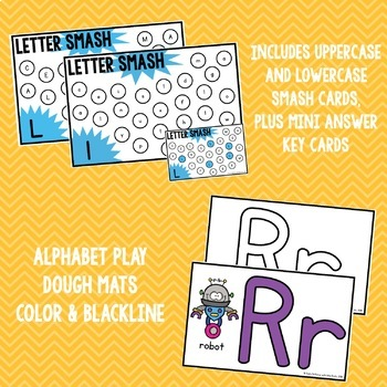 Letter SMASH! A Letter Identification Game with Play Dough Mats