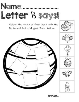 Letter SOUNDS Workbook: Paste & Glue