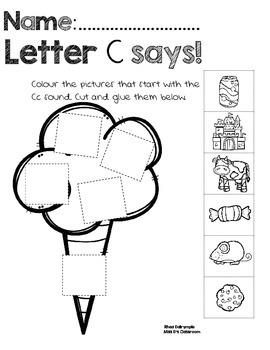 Letter SOUNDS Workbook: Paste & Glue