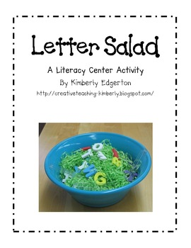 Letter Salad Literacy Activity