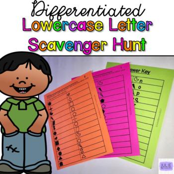 Letter Scavenger Hunt- Lowercase Letters