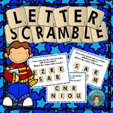 Reading Game for Literacy Centers Letter Scramble