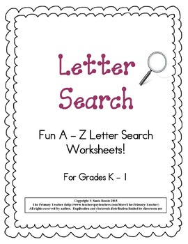 Letter Search A - Z