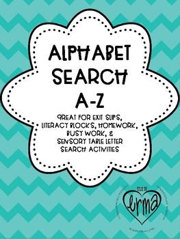 Letter Search A-Z