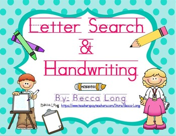 Letter Search & Handwriting
