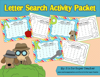Letter Search Activity Packet