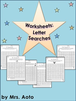 Letter Search Worksheets (A to Z)