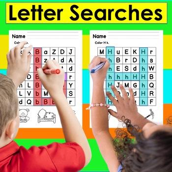 Letter Recognition Letter Searches:  26 Letter Searches NO PREP!