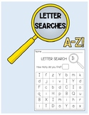 Letter Searches A-Z