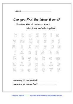 Letter Searching (Printable A to Z Letter Searching )