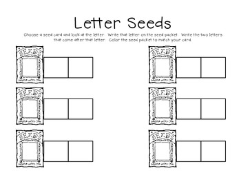 Letter Seeds!  An Activity to Practice Letter Sequence