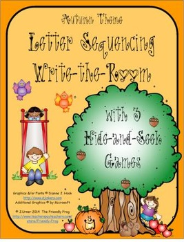 Letter Sequencing (Autumn Theme): Write the Room