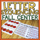 Letter Sequencing Fall Literacy Center w/ Ink Saving Option!