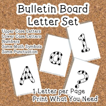 Printable display bulletin letters numbers and more: Footb