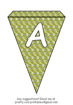 Printable bunting display bulletin letters numbers and more: Autumn Fall