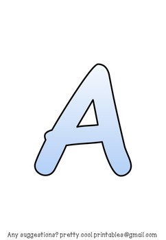 Printable display bulletin letters numbers and more: Blue