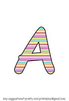 Display bulletin letters cut out alphabet number punctuati