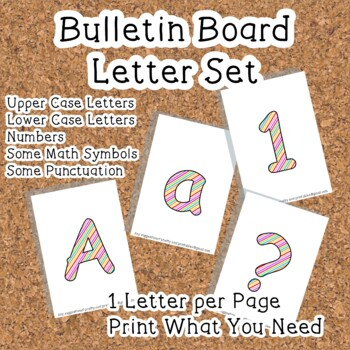 Printable display bulletin letters numbers and more: Rainb
