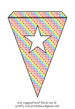 Printable bunting display bulletin letters numbers and more: Rainbow Dots