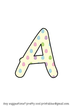 Printable display bulletin letters numbers and more: Easter Egg
