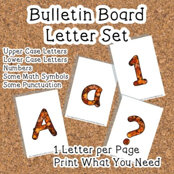 Printable display bulletin letters numbers and more: Autum