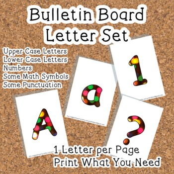 Printable display bulletin letters numbers and more: Chris