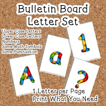 Printable display bulletin letters numbers and more: Coloured Balls