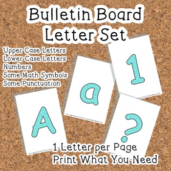 Printable display bulletin letters numbers and more: Blue Design