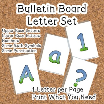 Printable display bulletin letters numbers and more: Grass