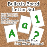 Printable display bulletin letters numbers and more: Green