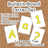 Printable display bulletin letters numbers and more: Yello