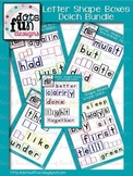 Letter Shape Box Bundle: Dolch Lists