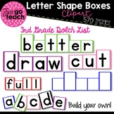Letter Shape Boxes Clipart - 3rd Grade Dolch Word List {Clipart}