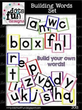 Letter Shape Boxes:Pre-Primer Dolch List
