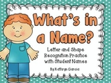 Letter Recognition Learning Names of Friends