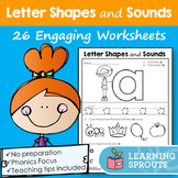 Letter Shapes and Sounds: 26 Engaging Worksheets
