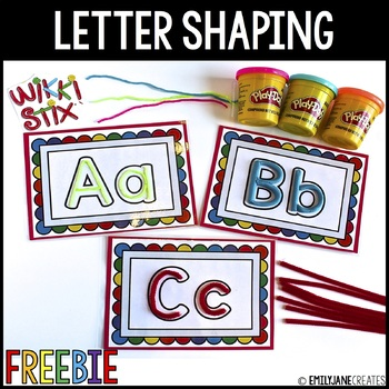 Letter Shaping Cards FREEBIE