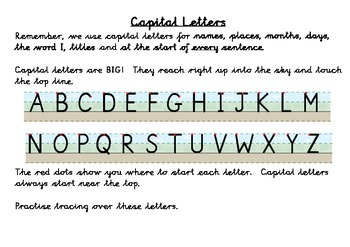 Letter Size Learning Mat