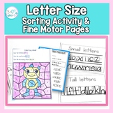 Tall Small and Fall Letter Worksheets: sorting, word shape