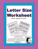 Letter Sizing Worksheet