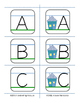 Letter Sizing and Placement Flashcards with HOUSE-mouse visuals