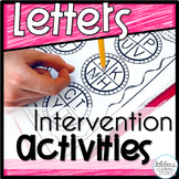 Letters Activities and Intervention